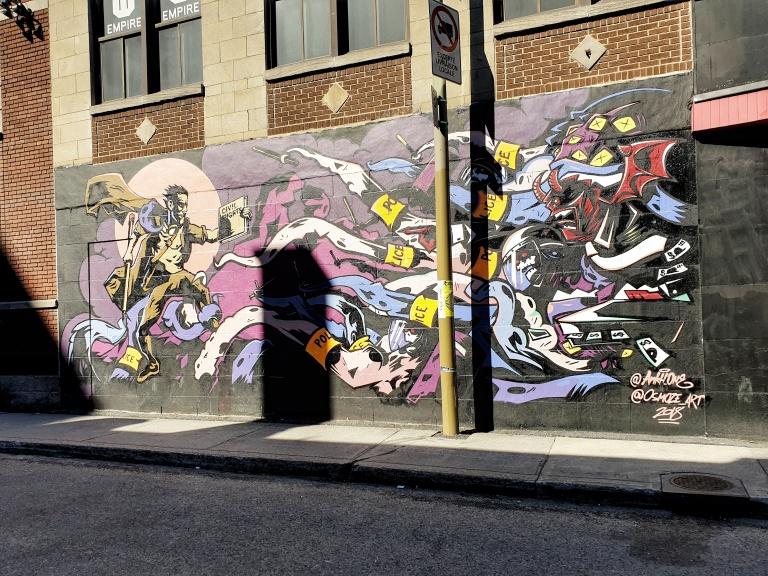 Saint-Catherine Street street art in Montreal