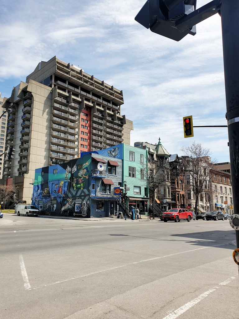 Spotting street art on Saint-Denis Street in Montreal