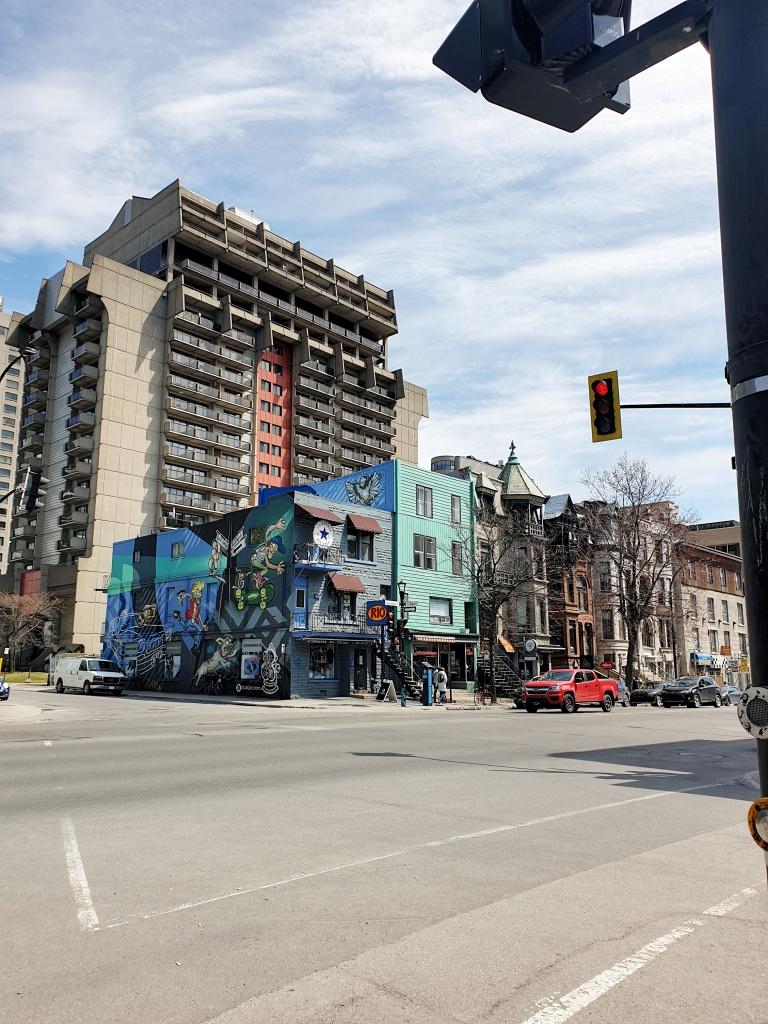 Spotting street art on Saint-Denis Street in Montreal