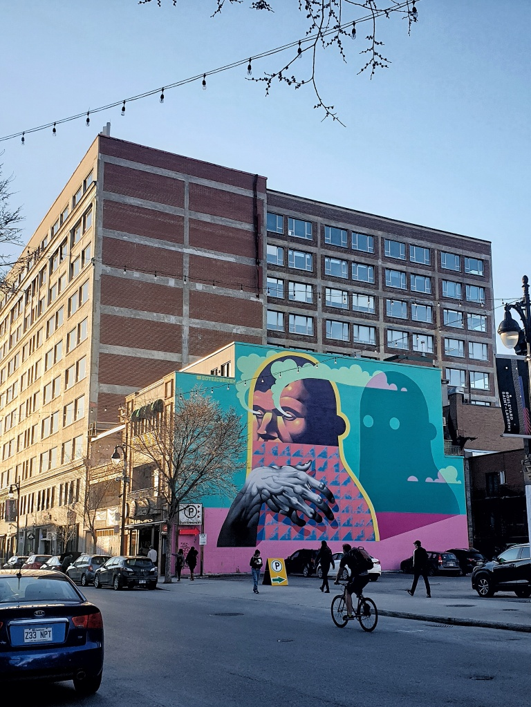 Street art in downtown Montreal